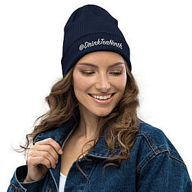 Organic Toque - Oxford Navy - @dtn - Girl