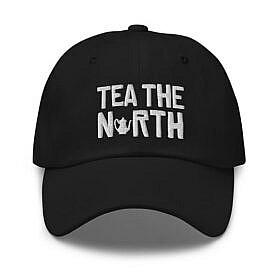 Tea The North - Baseball - Black - Front